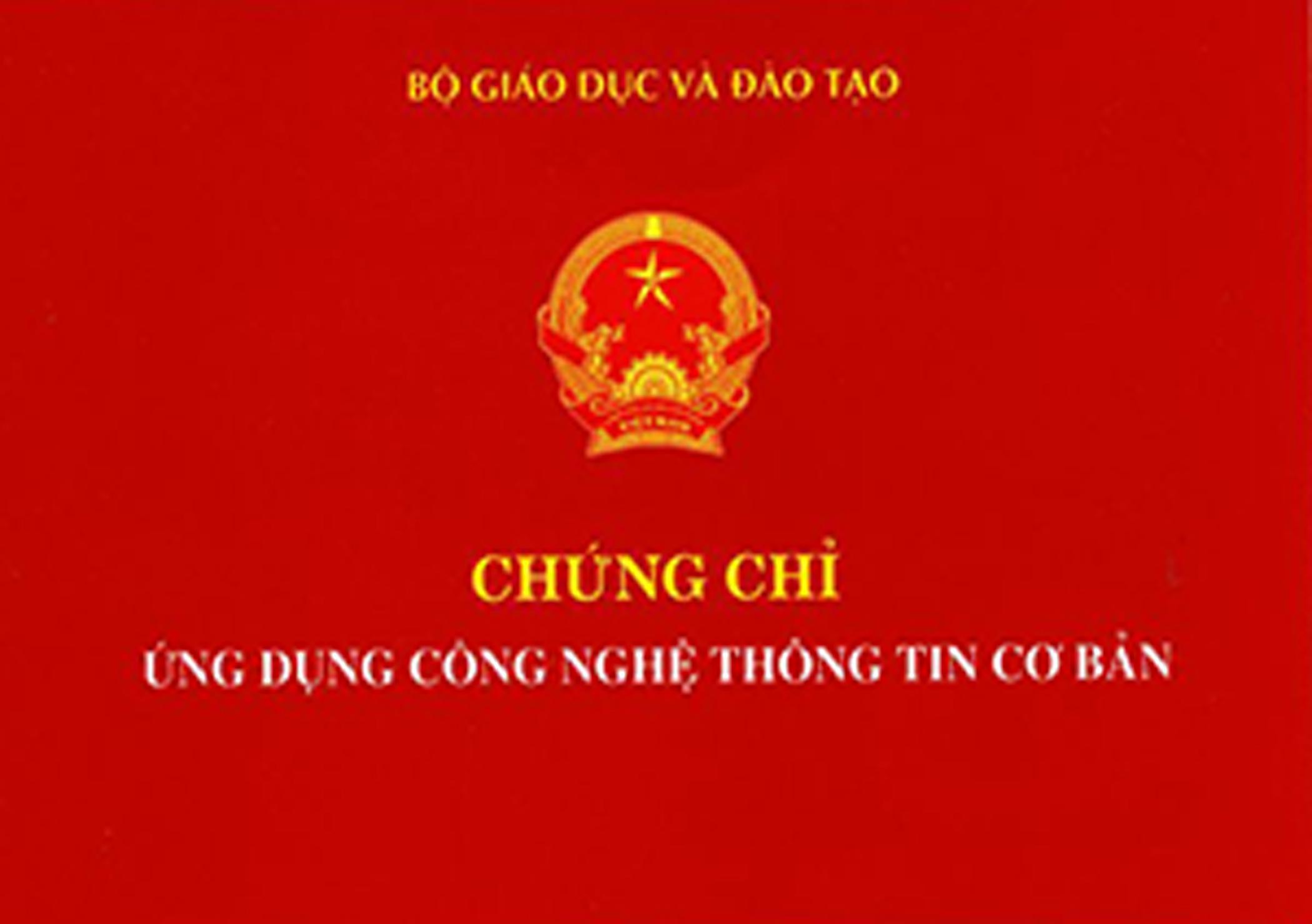 CHỨNG CHỈ TIN HỌC THEO THÔNG TƯ 03